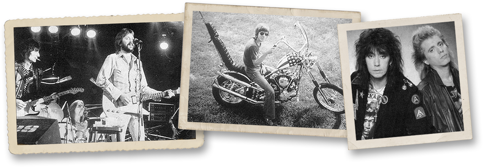 Ron Wood, Jamie Oldaker and Eric Clapton | Jamie Oldaker | Ace Frehley and Jamie Oldaker