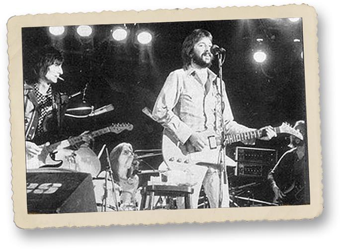 Ron Wood, Jamie Oldaker and Eric Clapton